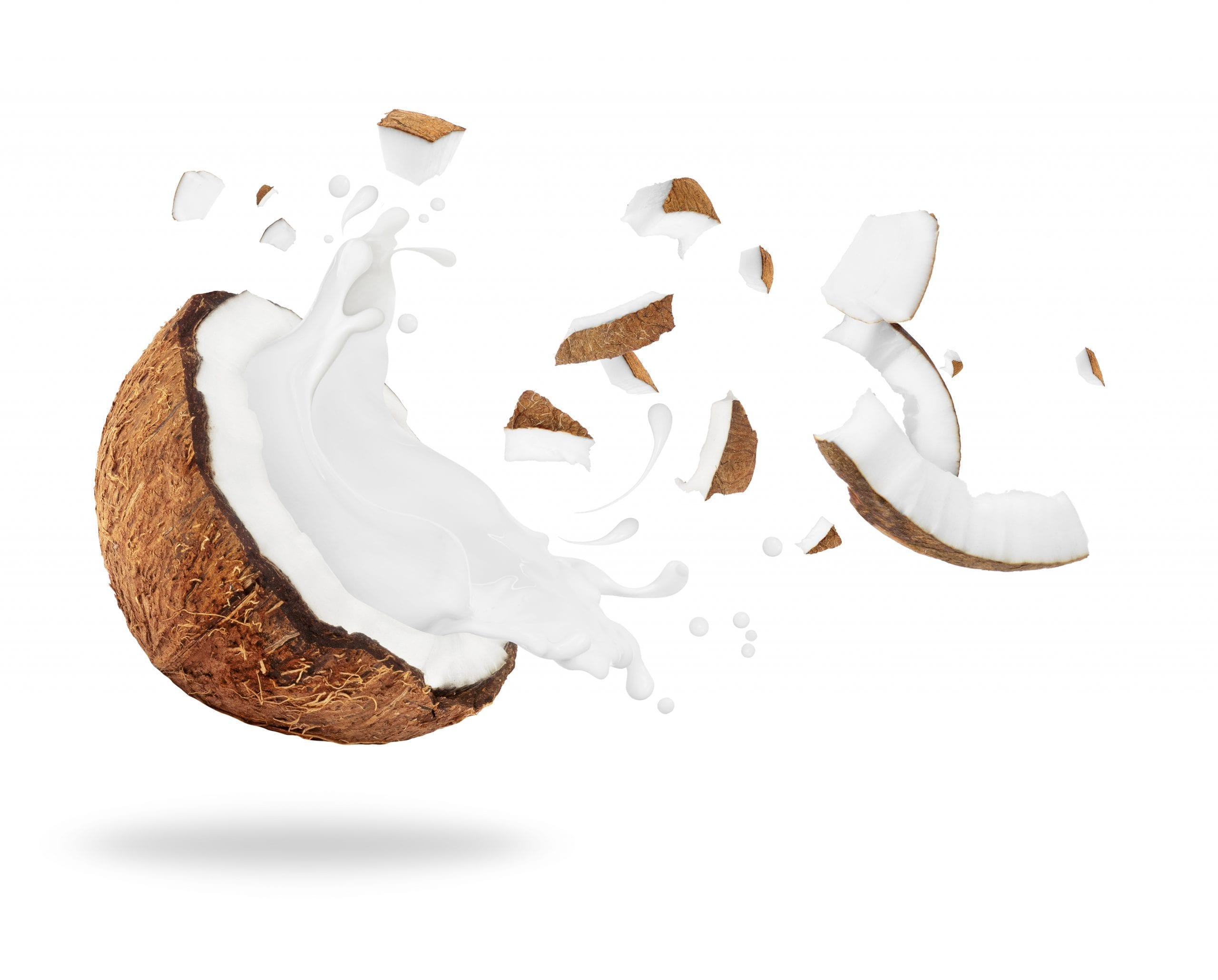 Afbeelding van een smaakvol exploderende kokosnoot