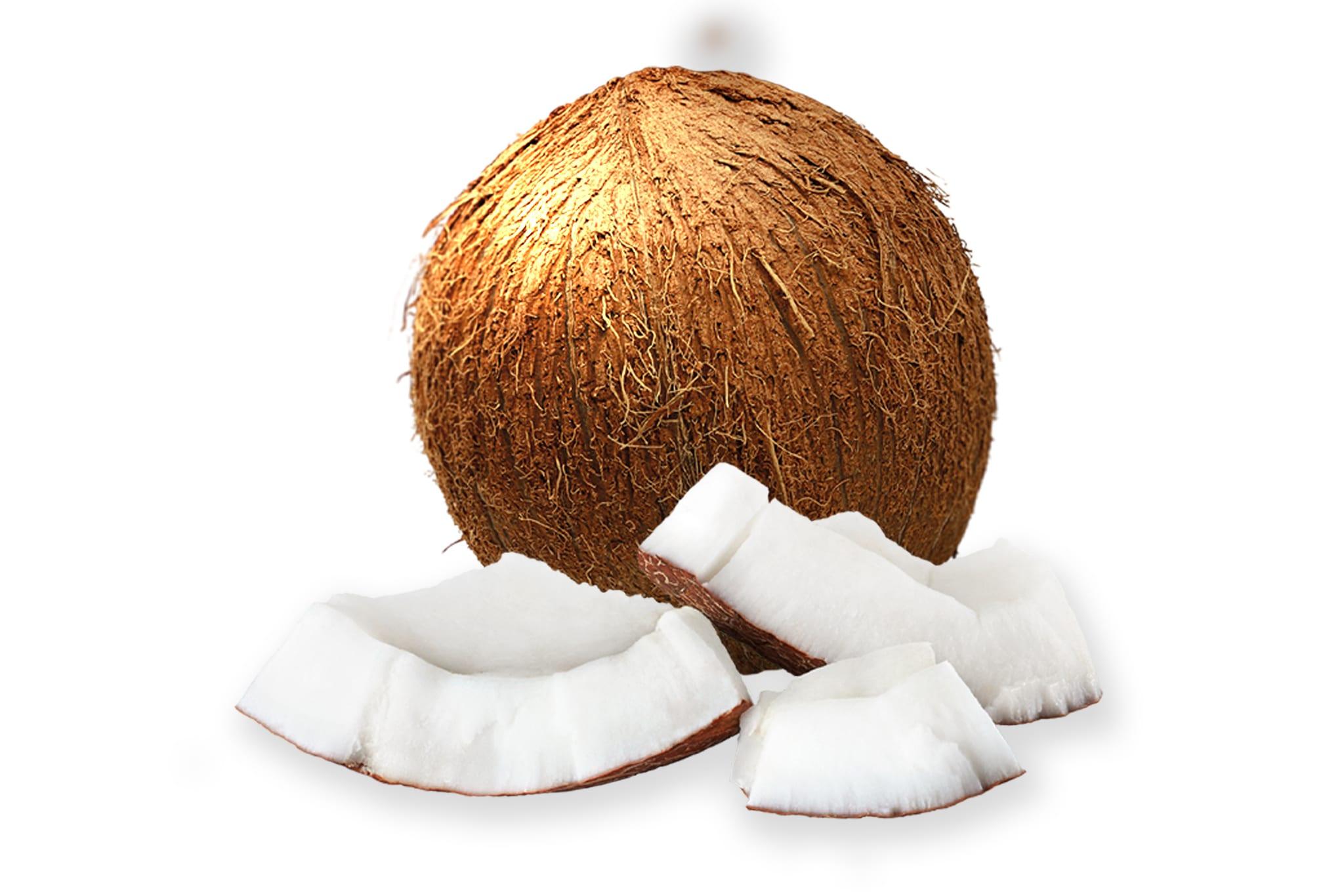 Kokosnoot met kokosstukjes