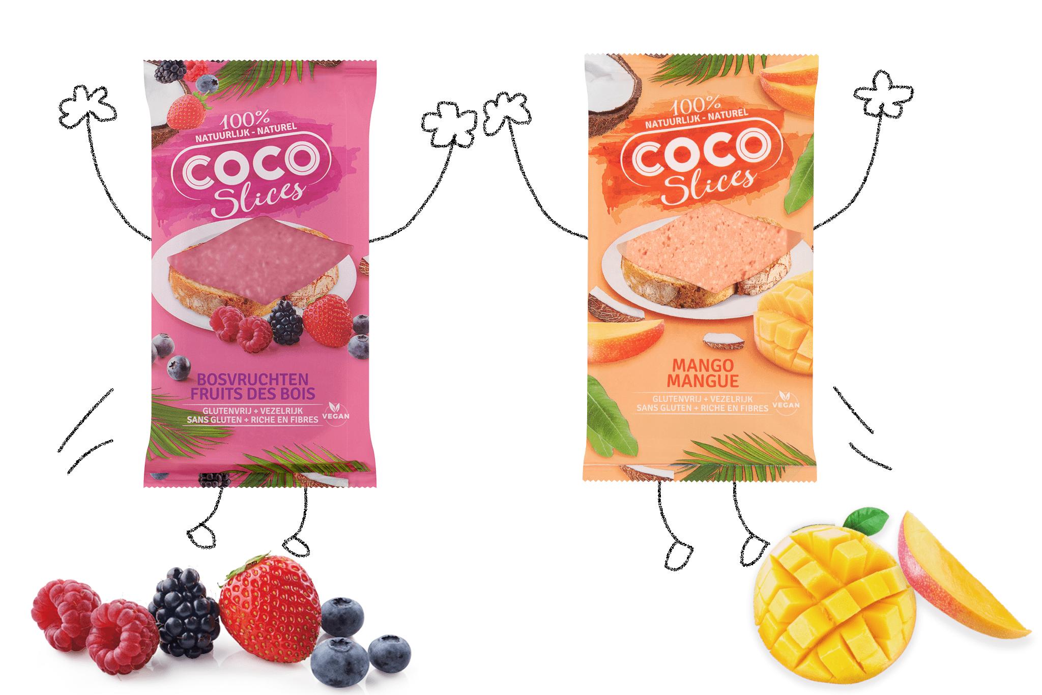 Coco Slices bosvruchten en mango