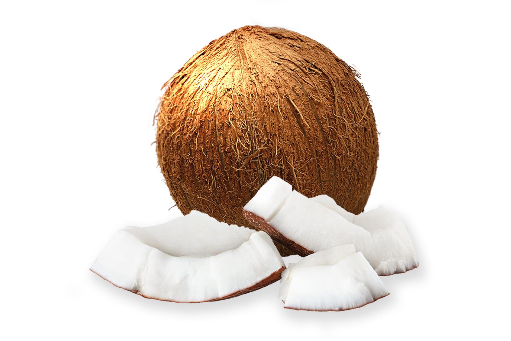 Kokosnoot met kokostukjes